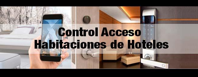 Puerta electronica control acceso hoteles